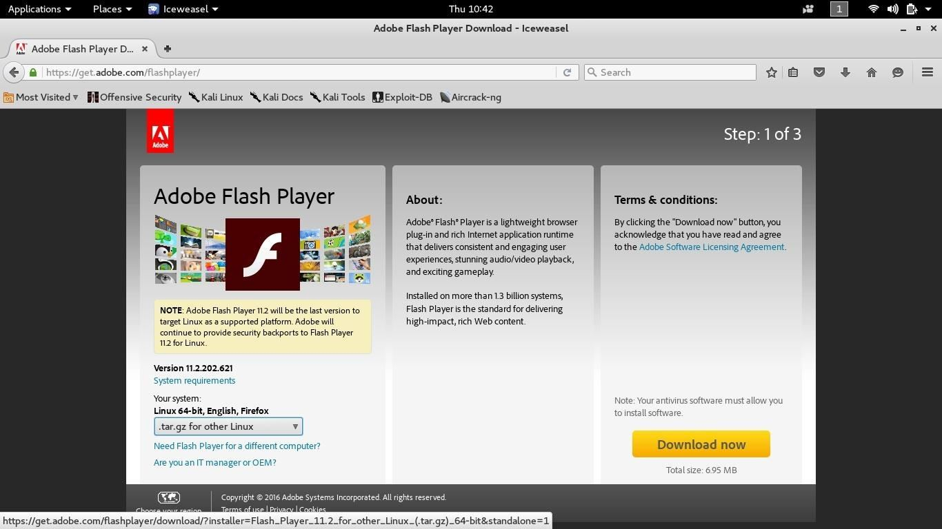 How to Install Flash on Kali Linux 2.0 Rolling